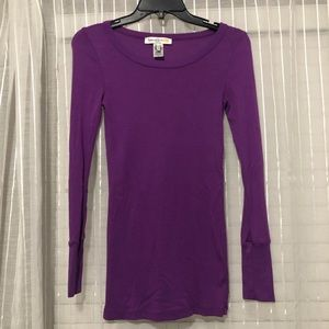 Splendid for Lucy Purple Long Sleeve Shirt